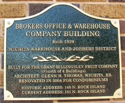 Brokers Office & Warehouse Company Building Marker image. Click for full size.