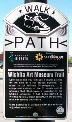 99 Words & Phrases Coined by Shakespeare Art Trail Marker Photo, Click for full size