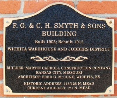 F. G. & C. H. Smyth & Sons Building Marker Photo, Click for full size