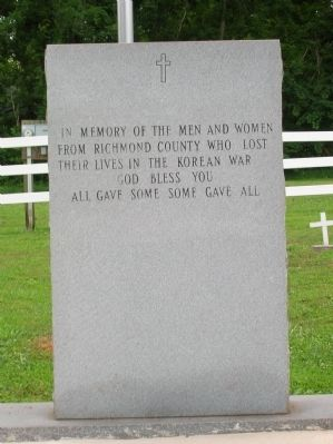 Richmond County Korean War Memorial Marker Photo, Click for full size