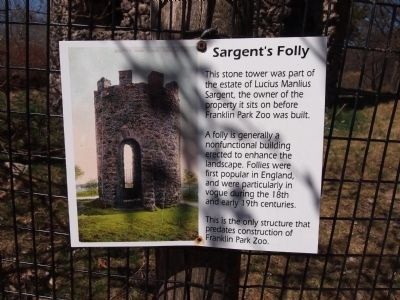 Sargent's Folly Marker image. Click for full size.