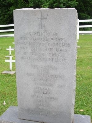 Richmond County War Memorial Marker image. Click for full size.