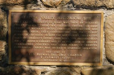 Meadow Valley Historical Site Marker image. Click for full size.