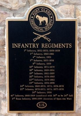 Infantry Regiments Plaque image. Click for full size.