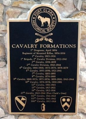 Cavalry Formations Plaque image. Click for full size.