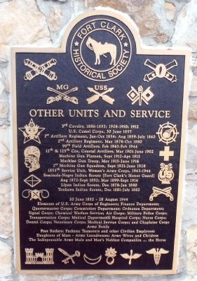 Other Units and Service Plaque image. Click for full size.