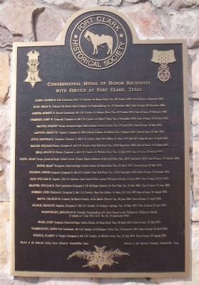 Congressional Medal of Honor Recipients with service at Fort Clark, Texas image. Click for full size.