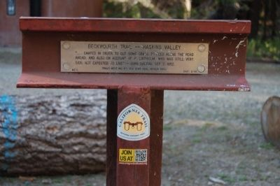 Beckwourth Trail – Haskins Valley Marker image. Click for full size.