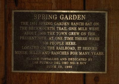 Spring Garden Marker Photo, Click for full size