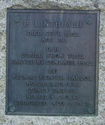 P. Linthiouh Marker Photo, Click for full size