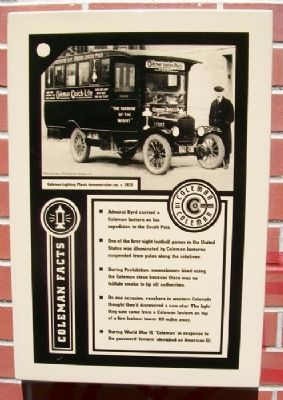 Coleman Company Facts Marker Photo, Click for full size