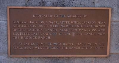 Jackson, Ross, Tefft and Dempsey Memorial Marker Photo, Click for full size