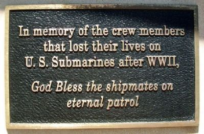 U.S. Submariners On Eternal Patrol Since World War II Memorial image. Click for full size.