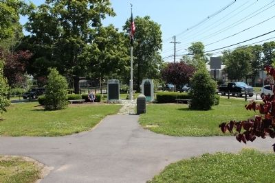 Site of First Church in Norton Marker image. Click for full size.