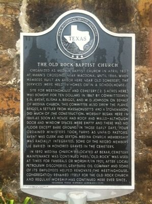 Old Rock Baptist Church Marker image. Click for full size.