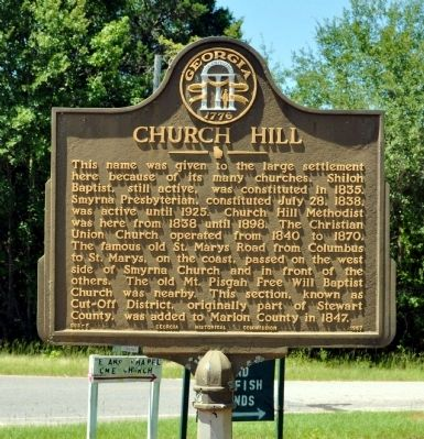 Church Hill Marker image. Click for full size.