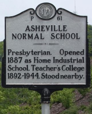 Asheville Normal School Marker image. Click for full size.