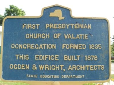 First Presbyterian Church of Valatie Marker Photo, Click for full size