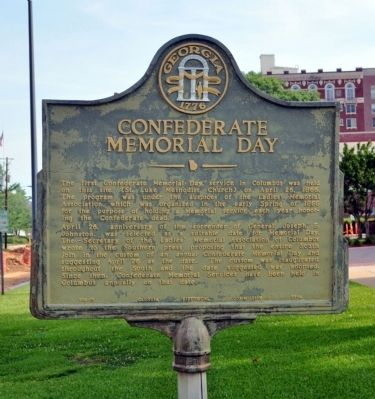 Confederate Memorial Day Marker image. Click for full size.