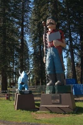 Paul Bunyan Marker and Statue image. Click for full size.