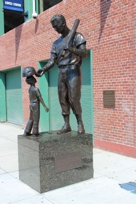 Ted Williams Statue and Marker image. Click for full size.