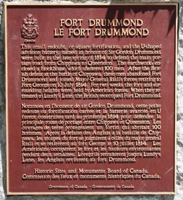 Fort Drummond Marker image. Click for full size.