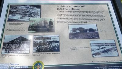 St. Mary's County and U.S. Navy History Marker image. Click for full size.