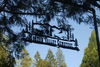 Meadow Valley Cemetery Sign image. Click for full size.