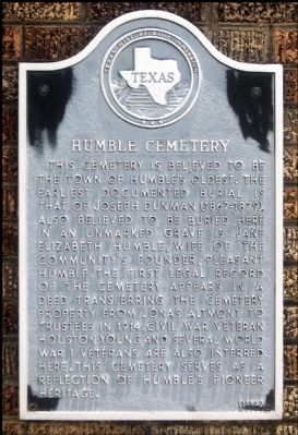 Humble Cemetery Marker image. Click for full size.