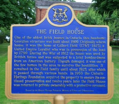 The Field House Marker Photo, Click for full size