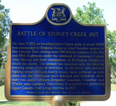 Battle of Stoney Creek 1813 Marker Photo, Click for full size