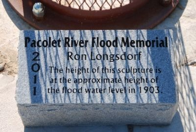 Pacolet River Flood Memorial - Panel One image. Click for full size.