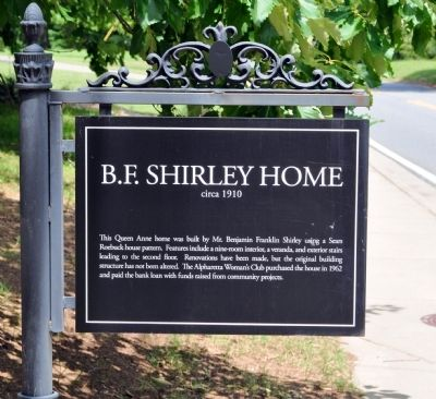 B. F. Shirley Home Marker image. Click for full size.
