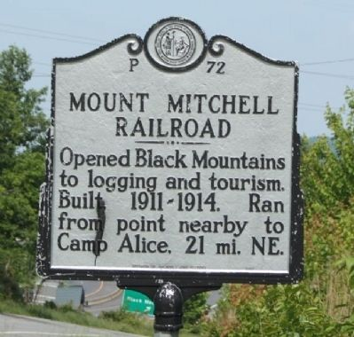 Mount Mitchell Railroad Marker image. Click for full size.