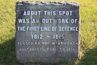 Defensive Outwork Marker Photo, Click for full size