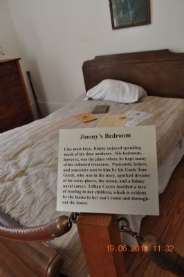 Jimmy Carter 's bedroom image. Click for full size.