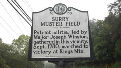Surry Muster Field Marker image. Click for full size.