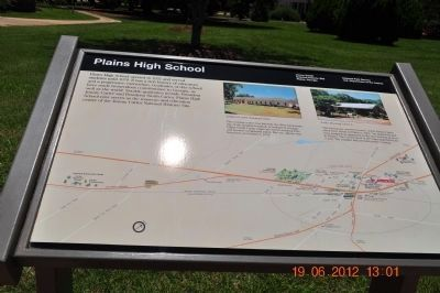 Plains High School Marker image. Click for full size.