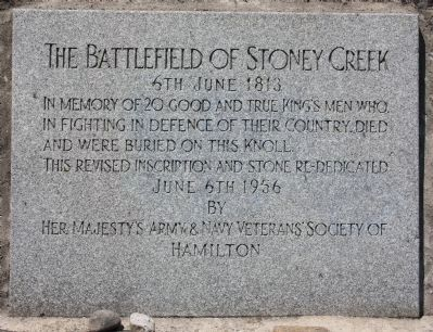 The Battlefield of Stoney Creek Marker image. Click for full size.