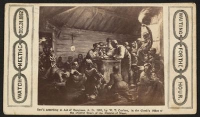 Watch meeting, Dec. 31, 1862--Waiting for the hour image. Click for full size.