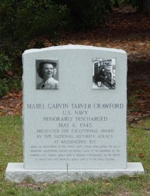 The Crawfords Memorial Mabel Garvin Crawford Marker image. Click for full size.