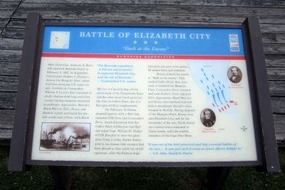 Battle of Elizabeth City CWT Marker image. Click for full size.