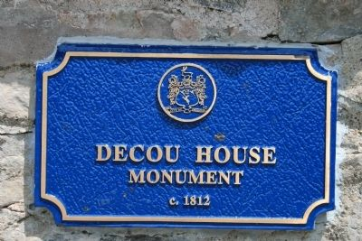 DeCou House Monument Marker image. Click for full size.