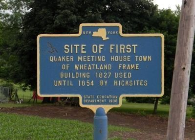 Site of First Quaker Meeting House Marker image. Click for full size.
