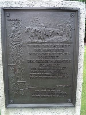 Gen. Henry Knox Trail Marker Photo, Click for full size