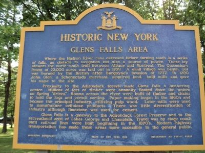 Glens Falls Area Marker image. Click for full size.