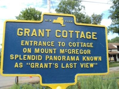 Grant Cottage Marker image. Click for full size.