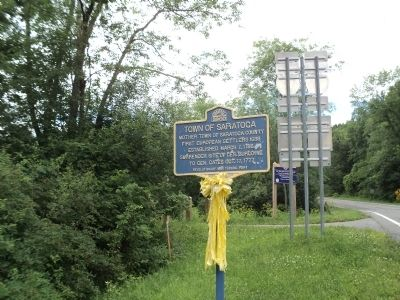 Town of Saratoga Marker Photo, Click for full size