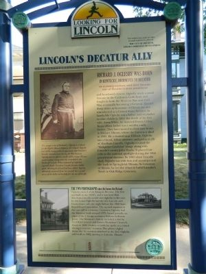 Lincoln's Decatur Ally Marker image. Click for full size.