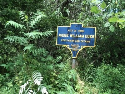 Judge William Duer Marker Photo, Click for full size
